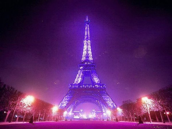 eiffel tower- purple - prince