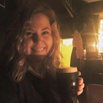 me with my first beer in Ireland