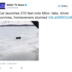 Minnesota Man Jumps His Car 210 Feet Over Open Water — Lands on Ice
